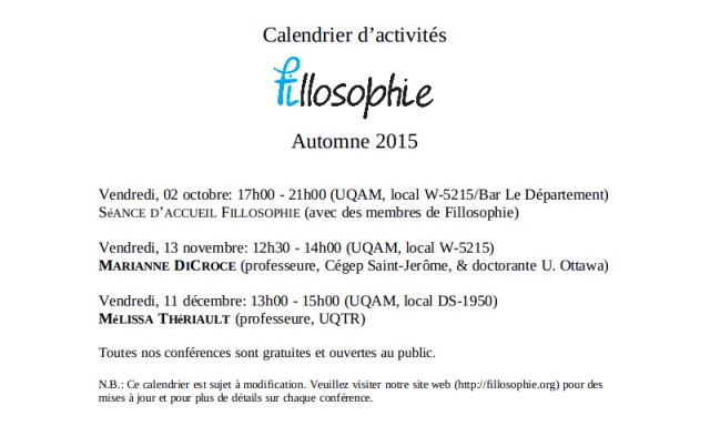 calendrier automne 2015